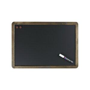 黒板アンティークブラックボード【LNB385】片面・A2サイズブラックボードメニューボード【マーカー付・チョーク使用可・マグネット使用可】