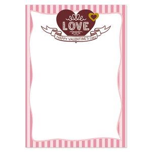 手書き、印刷用A4メニュー用紙バレンタインメニュー用紙絵柄11セット10枚入りレビューを書いてメール便送料無料!!(※代引き利用は送料が発生いたします)