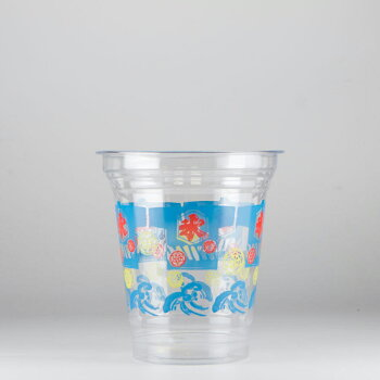 プラカップ 祭り氷柄 410ml(14オンス) 1000個 T96-410S 祭り氷 かき氷