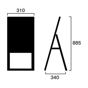 ブラックボードスタンド看板300x600・片面BSK300x600Kマーカー専用