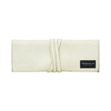 ロールペンケース 合皮 オフホワイト P-660 4990630660216【大人の筆箱・道具入れ・コスメケース・サキ】
