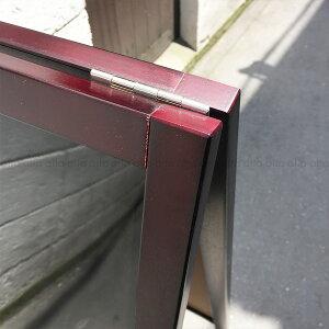 A型看板(中)赤枠ブラックボードABS-71RB木製両面・マグネット使用可・マーカー用