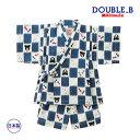 ミキハウス正規販売店/ミキハウス ダブルビー mikihouse とんぼ&金魚柄甚平スーツ(120cm・130cm) 1