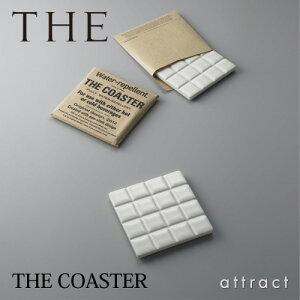THECOASTERコースタータイル型四角サイズ:85×85mmカラー:ホワイトデザイン:鈴木啓太(日本製)(美しい/シンプル/スタンダード/定番)(グラス/コップ/コップ敷き/マット)