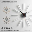 アートワークスタジオ ART WORK STUDIO アトラス ATRAS ウォールクロック WALL CLOCK 掛け時計 インテリア 雑貨 カラー:ブラウン ナチ…