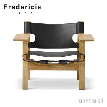 スパニッシュチェア The Spanish Chair フレデリシア Fredericia イージーチェア ラウンジチェア 2226 オーク オイル仕上げ ブラックレザー デザイン:ボーエ・モーエンセン 椅子 北欧 家具 デンマーク リビング 【RCP】【smtb-KD】