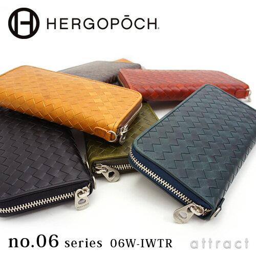 エルゴポック HERGOPOCH Waxed Leather ワキシングレザー・06W-IWTR ラウンドジップ ウォレット 長...