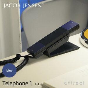 【正規販売店】JACOBJENSENヤコブ・イェンセンT-1Telephone1電話機テレフォンカラー:ブルー(壁掛け対応/スタンド付属/電源コード不要)(北欧/モダン/デザイン/贈り物/ギフト)【smtb-KD】