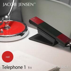 【正規販売店】JACOBJENSENヤコブ・イェンセンT-1Telephone1電話機テレフォンカラー:レッド(壁掛け対応/スタンド付属/電源コード不要)(北欧/モダン/デザイン/贈り物/ギフト)【smtb-KD】