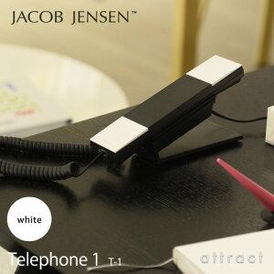 【正規販売店】JACOBJENSENヤコブ・イェンセンT-1Telephone1電話機テレフォンカラー:ホワイト(壁掛け対応/スタンド付属/電源コード不要)(北欧/モダン/デザイン/贈り物/ギフト)【smtb-KD】
