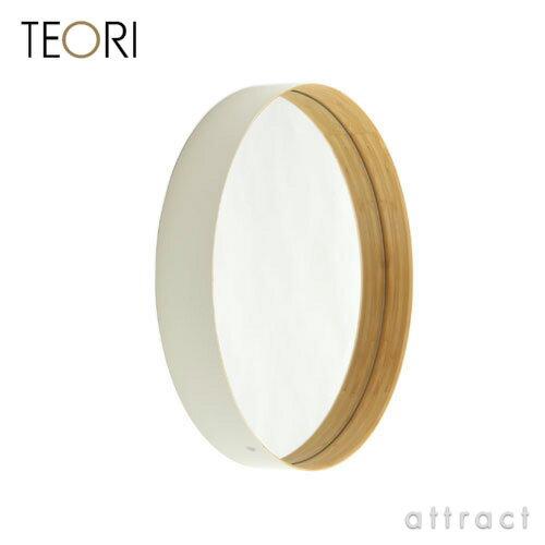 テオリ TEORI ZERO ゼロ ミラー 鏡 Mサイズ カラー:乳白色 ホワイト 丸形ミラー ...