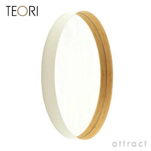 テオリ TEORI ZERO ゼロ ミラー 鏡 Lサイズ カラー:乳白色 ホワイト 丸形ミラー ...