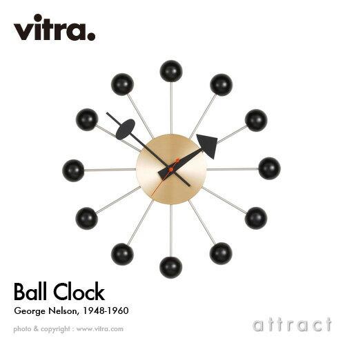ヴィトラ Vitra Ball Clock ボールクロック Wall Clock ウォールクロック 掛け時計 デザイン:George Nelson ジョージ・ネルソン カラー:ブラック スイス デザイナー ビトラ パントン イームズ ノグチ 【RCP】【smtb-KD】:アトラクト