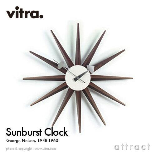 ヴィトラ Vitra Sunburst Clock サンバーストクロック Wall Clock ウォールクロック 掛け時計 デザイン:George Nelson ジョージ・ネルソン カラー:ウォルナット デザイナー パントン イームズ 【RCP】【smtb-KD】