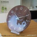 インハウス IN HOUSE Dome Clock ドームクロック サイズ:L Φ40cm NW30 ウォールクロック 壁掛け時計 カラー:全3色 ブリティッシュデザイン 英国 新築祝 結婚祝 ギフト 【HLS_DU】【RCP】【smtb-KD】