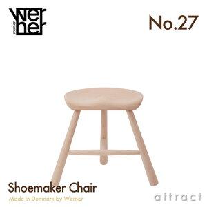 【正規品】WERNERワーナーシューメーカーチェアNo.27サイズ27cm270mmMadeinDenmarkデンマーク製キッズ用サイズ無塗装(Beech/ビーチ材)ShoemakerChair(Stool)(北欧・椅子・スツール)【smtb-KD】