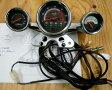 配線図付 4輪バギーATV用3連スピードメーター H157