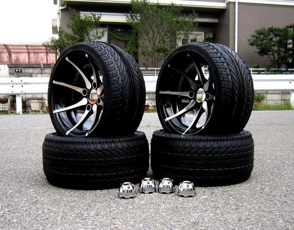 最新8本スポーク14インチアルミホイル&タイヤ4本:バギートライクショップセブン