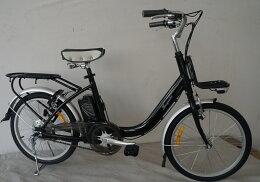 送料無料 20インチ電動アシスト自転車 パスカルEW2003 ブラック 乗りやすい20インチ 純正前かご3000円