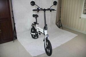 電動ハイブリッドバイク(自転車)公道走行可能 折りたたみ サス付き 16インチタイヤ搭載