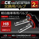 ◆ACE HID◆ 交換用 軽自動車専用HIDバルブ 35W H8 2個1セット