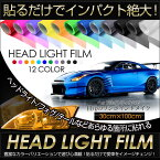 [RSL]ヘッドライトフィルム カラーフィルム 全12色【30cm×100cm】★ヘッドライト/テールランプ/フォグランプ/アイラインなどあらゆる箇所に貼れる!
