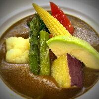 野菜カレーバターライスとポテト付