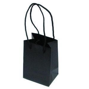 ラッピング用品 ミニペーパーバッグ 紙袋 ブラック
