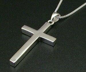 クロス ネックレス メンズ 十字架ネックレス シルバー925 シルバーネックレス メンズネックレス シンプル 人気 ベネチアンチェーン付き クロスネックレス レディース ネックレス メンズ シルバー 男 女 兼用
