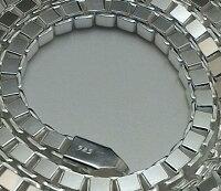 極太4.0mm/50cm/44gベネチアンチェーンシルバー925シルバーネックレスチェーンネックレスメンズネックレスシルバーチェーン
