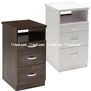 [サロン用収納]ネイルサイドテーブル(UVランプ収納棚付) Basic[ベーシック]各色代引き以外【送料無料】