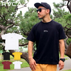 RVCAルーカTシャツメンズTINYARCHSS2020春夏ブラック/バーガンディー/イエロー/ホワイトS/M/L