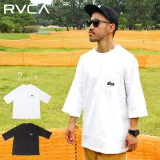 RVCAルーカTシャツメンズRUMPOCKETTEE2020春夏ブラック/ホワイトS/M/L