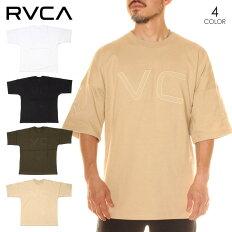 RVCAルーカTシャツメンズFAKERVCATEE2020春夏ブラック/グリーン/ベージュ/ホワイトS/M/L
