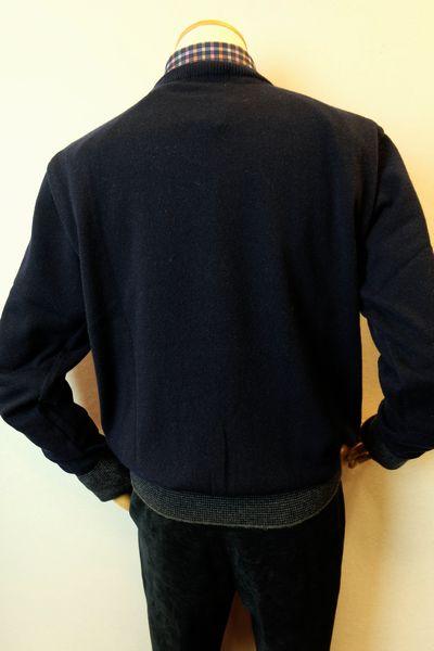 【セール35%OFF】 ジーゲラン GEEGELLAN 【日本製カシミヤセーター】【秋冬アウトレット現品限り品】【メンズウェア】【カシミヤ100%】【ニット】【トップス】【ジーゲラン服】 カシミヤ100%セーター ネイビー