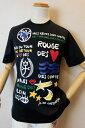 【セール35%OFF】 カステルバジャック CASTELBAJAC 【半袖Tシャツ】【2019春夏新作】【メンズウェア】【ゴルフ】【カステルバジャック服】アートプリント半袖Tシャツ ブラック