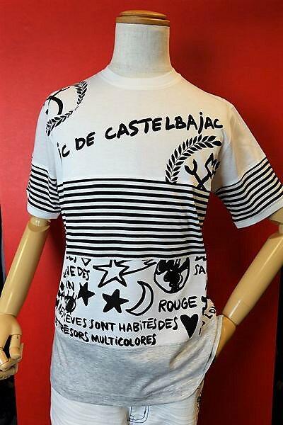 カステルバジャック CASTELBAJAC 【半袖Tシャツ】【2019春夏新作】【メンズウェア】【ゴルフ】【カステルバジャック服】切り替え半袖Tシャツ ホワイト