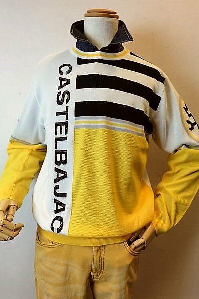 【セール35%OFF】 カステルバジャック CASTELBAJAC 【スプリングセーター】【2019春夏新作】【メンズウェア】【ゴルフ】【ニット】【カステルバジャック服】 スプリングセーター ホワイト