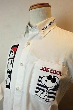 カステルバジャック 【カジュアルシャツ】【2020春夏新作】【メンズウェア】【スヌーピー】【ゴルフ】【ボタンダウンシャツ】【カステルバジャック服&バッグ】 スヌーピー隠れボタンダウンシャツ ホワイト CASTELBAJAC