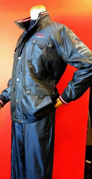 【カプリ】【CAPRI】【ウインドブレーカー】【イージーパンツ】【メンズ】【上下セット】【秋冬アウトレットセール60%OFF】【メンズファッション】【カプリ服】 ウインドブレーカー上下 ブルー