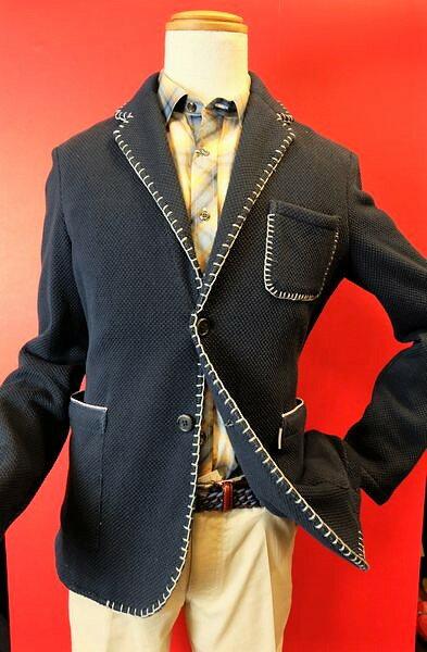 【2017春夏新作セール35%OFF】【アルコットヒル】【Alcott hill】【ジャケット】【メンズ】【ブランド】【ニットジャケット】【アンジェロ】【メンズファッション】【アルコットヒル服】 ダブルフェイスニットジャケット ネイビー