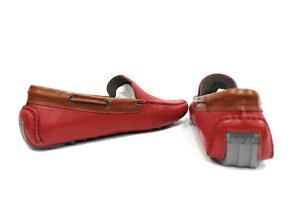 【ピレリ】【PIRELLI】【春夏新作】パンチングレザードライビングシューズレッド【ドライビングシューズ】【イタリア】【レザーシューズ】【LEON掲載モデル】【メンズファッション】【ピレリ靴】