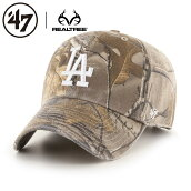 47Brandキャップ47BrandCAP47ブランドLAロサンゼルスドジャースローキャップベースボール帽子メンズレディースカモRealTree47BRANDDodgersCLEANUPRTRGW12GWS
