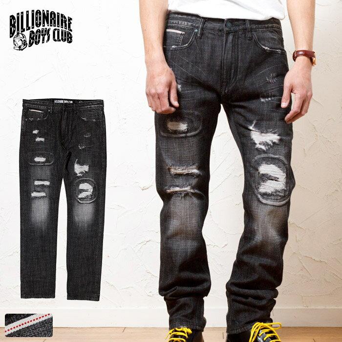メンズファッション, ズボン・パンツ BILLIONAIRE BOYS CLUB BBC SMART-CUT BLACK DISTRESED JEANS PANTS 851-8102