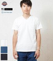 GOODWEARUSAグッドウェアスリムフィットVネック日本別注ポケットTシャツ米国製/アメリカ製/ポケT