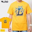 LRG エルアールジー クルーネック フロントロゴプリント 半袖Tシャツ QUICK L TEE イエロー 黄色 J191010
