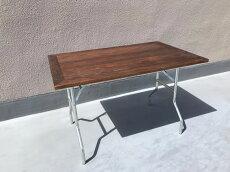 杉無垢材天板のワークテーブル