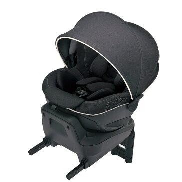 エールベベ 回転型チャイルドシート クルット4i プレミアム ナチュラルブラック BF865【ISOFIX取付】 新生児から4歳用 『日本製・安心トリプル保証付』