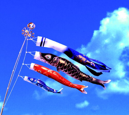 最高級鯉のぼり 峰雅 1.5m万能セット 玉龍吹流 ちりめん織物使用 金箔ぼかし撥水加...