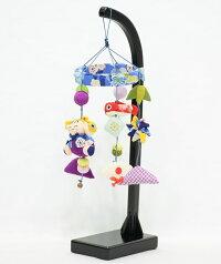 五月人形吊るし飾りちりめんつるし特小高さ36cm【端午の節句】